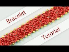 DIY Double Wave Macramé Bracelet - Tutorial ◡◠◡◠◡ - YouTube