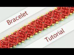 DIY Double Wave Macramé Bracelet - Tutorial ◡◠◡◠◡ - YouTube