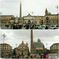 Plaza del Pueblo, Roma, Italia.