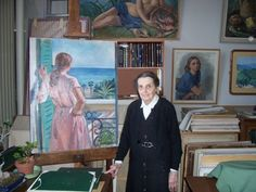 Екатерина Серебрякова, Ekaterina Serebriakova (1913-2014). Фото дочери художницы Зинаиды Серебряковой, сделанное Татьяной Нова в парижской мастерской в 2005 году.