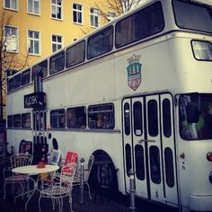 Kjosk- Berlin's cafe in a bus. From Rhubarb & Rose.
