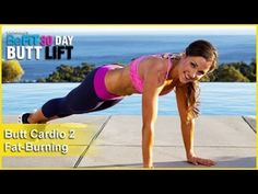 Butt Workout Cardio 2: Fat-Burning | 30 DAY BUTT LIFT.  HIIT 30/15: (Warm Up - jog in place, jump rope, jumping jack, speed skater) Quick Feet, Plank Jacks, Single Leg Hop, Crab Kickouts, Plie Heel Kicks, Burpees, Squat Jacks, Side Mountain Climbers, Switch Lunges + Squats and Supermans.