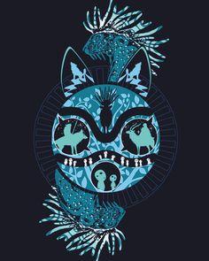Natural Princess - Natural Princess – Proposal for a t-shirt presented in a Pampling contest. Admire, vote a - Studio Ghibli Art, Studio Ghibli Movies, Totoro, Personajes Studio Ghibli, Ghibli Tattoo, Desenho Tattoo, Anime Tattoos, Hayao Miyazaki, Anime Shows