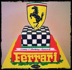 Ferrari Cake Bolo Ferrari, Ferrari Cake, Ferrari Party, Race Car Themes, 60th Birthday, Birthday Ideas, Race Party, Dream Cake, Cakes For Boys