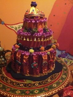 """Treasures of the Gypsy Tearoom~ cake created by """"Five Green Boxes"""" in Denver, Co."""