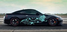 CAR SIDE VINYL DECAL ART STICKER GRAPHICS BUTTERFLY ON A FLOWER JK151 #Stickalz