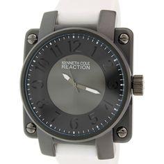 Kenneth Cole Reaction Men's Reaction RK1402 White Silicone Quartz Watch
