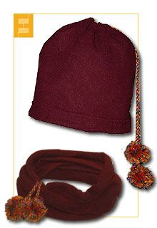 FUNFABRIC starts out as a neck warmer/scarf but when you pull the ties it can become a cap Bushcraft Camping, Neck Warmer, Knitted Hats, Sewing Patterns, Beanie, Seasons, Couture, Quilts, Knitting