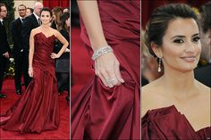 Penelope gorgeous in Burgundy
