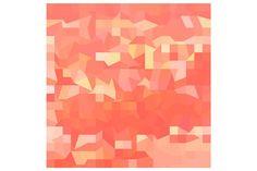 Orange Abstract Low Polygon Backgrou by patrimonio on @creativemarket