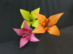 Paper Flower Tutorial: How to fold Origami Lily Flower