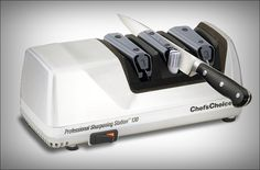 Chef'sChoice Professional Sharpening Station Model 130 is an expert electric blade sharpener. This item wipes out the disarray of insufficient honing devices. This is a 3-Stage honing framework. They are Fine Edge, Steeled Edge and Steeled or Polished Edge.