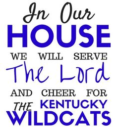 In Our House we serve the Lord and Cheer for the Kentucky Wildcats Custom Soap Dispenser Monogramed with Family name by MariaJoyandCo on Etsy Uk Wildcats Basketball, Basketball Baby, Basketball Drills, Kentucky Basketball, Basketball Humor, College Basketball, University Of Kentucky, Kentucky Wildcats, Kentucky Athletics