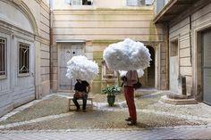 Head in the clouds installation by Mickaël Martins Afonso & Caroline Escaffre-Faure, Montpellier – France » Retail Design Blog