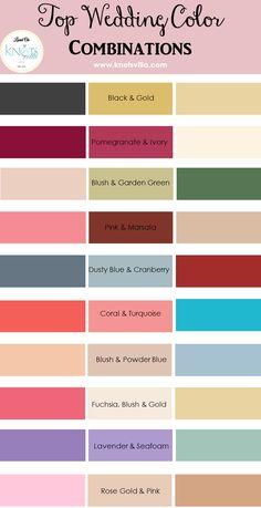 Top Wedding Color Combinations - KnotsVilla