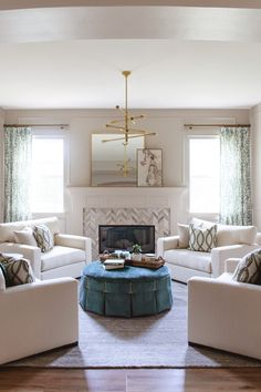 Winecrest Living Room - Transitional - Living Room - San Diego - by Savvy Interiors Accent Lighting, Modern Lighting, Focal Wall, Transitional Living Rooms, Window Coverings, Bean Bag Chair, San Diego, Walls, Windows