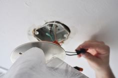 Idiots guide to changing a light fixture lol.