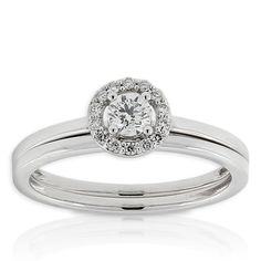 Diamond Wedding Set 14K - in yellow gold without the wedding band