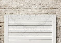 White Wooden Headboard - Oz Backdrops and Props
