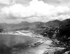 Kai Tak Airport, Hong Kong, 19th Century, The Past, Photo Wall, Mountains, Landscape, History, Beach