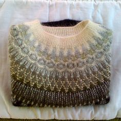 Ravelry: elsie67s Determination Large Lace Collar Bohus sweater Swedish