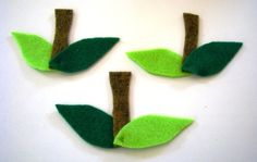 Felt leaves and stems