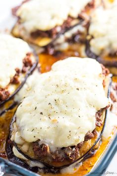 Eggplant Lasagna Recipe Without Noodles (Low Carb, Gluten-free) - This healthy low carb eggplant lasagna recipe without noodles is quick and easy to make, using simple ingredients. Just 20 minutes prep time! Beef Recipes, Cooking Recipes, Healthy Recipes, Healthy Food, Low Carb Dinner Recipes, Breakfast Recipes, Brunch Recipes, Tortillas, Zucchini