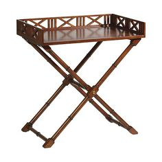 "ethanallen.com - caramel west indies tray table | 30"" w x 32"" h x 20"" d