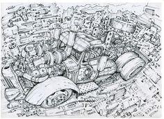 Author Aleksey Lubimov/Ratrod #алексейлюбимовбиомеханика #алексейлюбимов #стимпанк #дизельпанк #биомеханика #летающийгород #steampunk #dieselpunk #alekseylubimov #biomechanical #hotrod