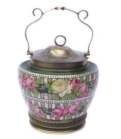 Art Nouveau Biscuit Barrel Vintage Biscuit Barrel by BiminiCricket