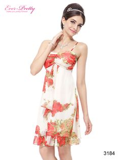 Romantic Floral Printed Chiffon Summer Dresses Party Dresses For Teenagers, Girls Party Dress, Girls Dresses, Ever Pretty Dresses, Nice Dresses, Formal Dresses, Evening Dresses, Summer Dresses, Junior Dresses