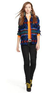 Jacquard-Knit Cotton Shirt - Polo Ralph Lauren Long-Sleeve - RalphLauren.com