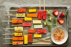 Nature's Candy: Fresh Fruit Sticks With Lime And Chili Syrup Recipe | Food Republic