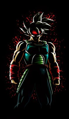 Bardock (バーダック, Bādakku) is a low-class Saiyan warrior, the husband of Gine, and the father of Raditz and Goku. He makes his debut as the titular protagonist of the 1990 TV special Dragon Ball Z: Bardock - The Father of Goku. Dragon Ball Z, Dragon Z, Dragon Warrior, Black Dragon, Dragonball Anime, Super Goku, Naruto, Goku Wallpaper, Super Anime
