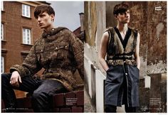 El Norte-Decadent fall fashions take center stage for a new fashion editorial from Esquire España's November 2014 issue. Fusion model Laurie Harding is the