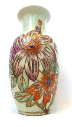 Antique Floral Vase