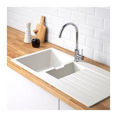 Simple H LLVIKEN bowl insert sink with drainer IKEA