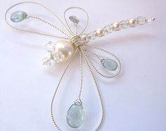 Moss Aquamarine large ornate Sterling by GemstoneDragonflies