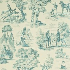 Style Library - The Premier Destination for Stylish and Quality British Design | Products | Fox Hunting (DEGTFH101) | Toile Wallpapers