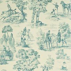 John Lewis Sanderson Toile Fox Hunting Wallpaper Colour Cream/ebony for sale online Toile Wallpaper, Pattern Wallpaper, Painted Wallpaper, Wallpaper Designs, Room Wallpaper, Equestrian Decor, Equestrian Style, Hunting Wallpaper, Mighty Oaks