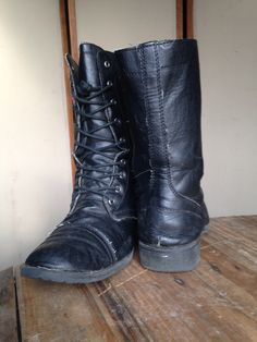 Airwalk - black combat style lace up boots - Shoe Dept. -  20 I Love dadc46f09