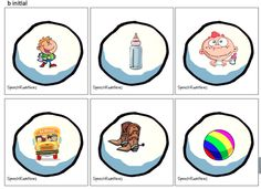 Winter Artic: T, D, P, B, M, F, K, G S, S blends  24 cards in the initial/final (12 each) position of each sound.   240 cards total  plus Extra Blank Snowballs