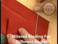 Mitered Binding for Different Angles - YouTube