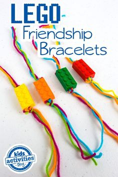 What better way to celebrate your bestie than with LEGO friendship bracelets? Super easy and fun kids craft.