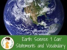 Earth Science: Student Learning Targets and Vocabulary by Science in the City Earth Science Activities, Science Topics, Science Curriculum, Science Resources, Science Classroom, Science Lessons, Teaching Science, Science Student, Teaching Ideas
