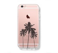 Palm Tree California iPhone 6s Clear Case iPhone 6 Cover iPhone 5S 5 5C Hard Transparent Case C025