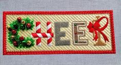 #holiday #cheer canvas has a stitch guide! Shop at raymondcrawford.com #Christmas #holidays