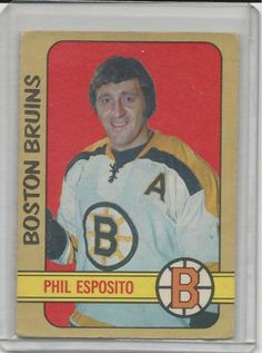 Phil Esposito1972-73 OPC Hockey Card # 111 Boston Bruins EX