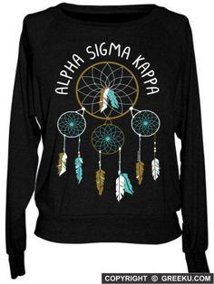 Alpha Sigma Kappa Dream Catcher Tri-blend Pullover