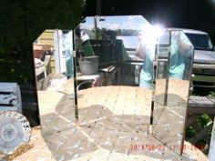 Vintage Tri Fold Mirror - Boudoir Dresser Vanity - Shabby Cottage #Victorian